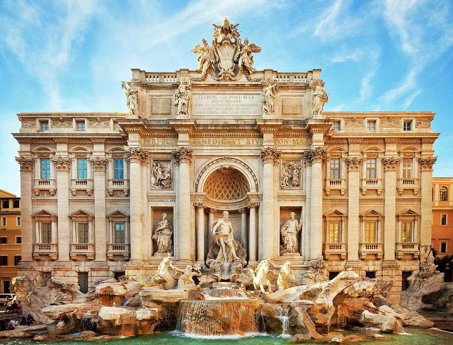 Trevi Fountain, Rome Photograph by Nikada