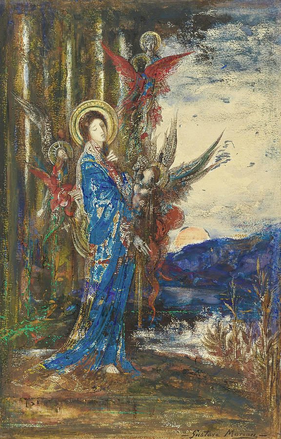 Gustave Moreau Painting - Trials by Gustave Moreau