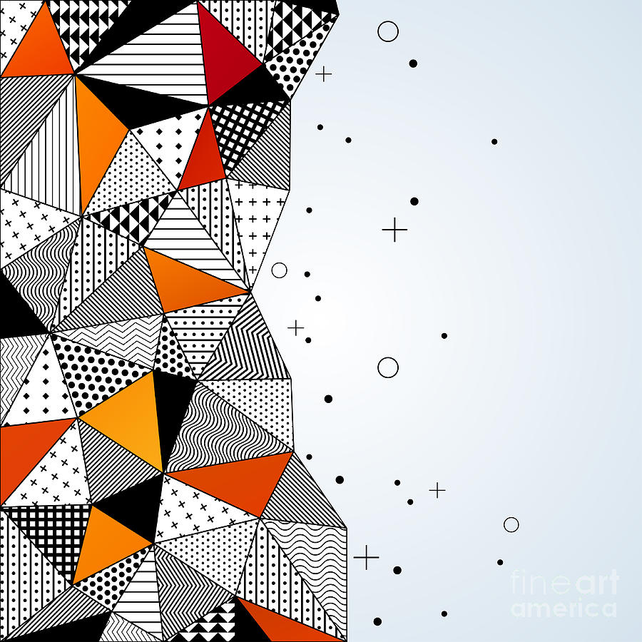 Hip Digital Art - Triangle Pattern Background. Vector by Kotoffei