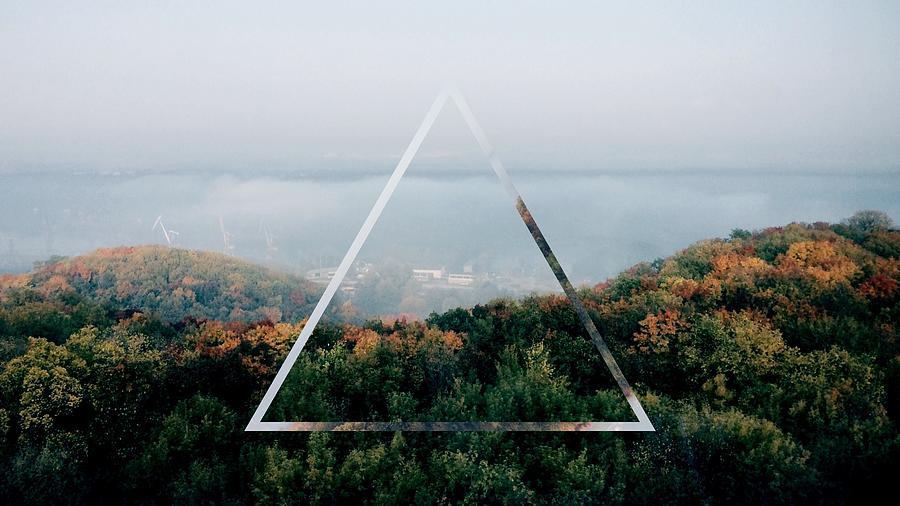 Triangle Shape Over Forest Against Photograph by Bulat Kinzyagulov / Eyeem