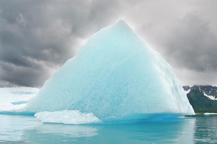 Triangular Iceberg On Gloomy Day, Bear Photograph by James + Courtney Forte