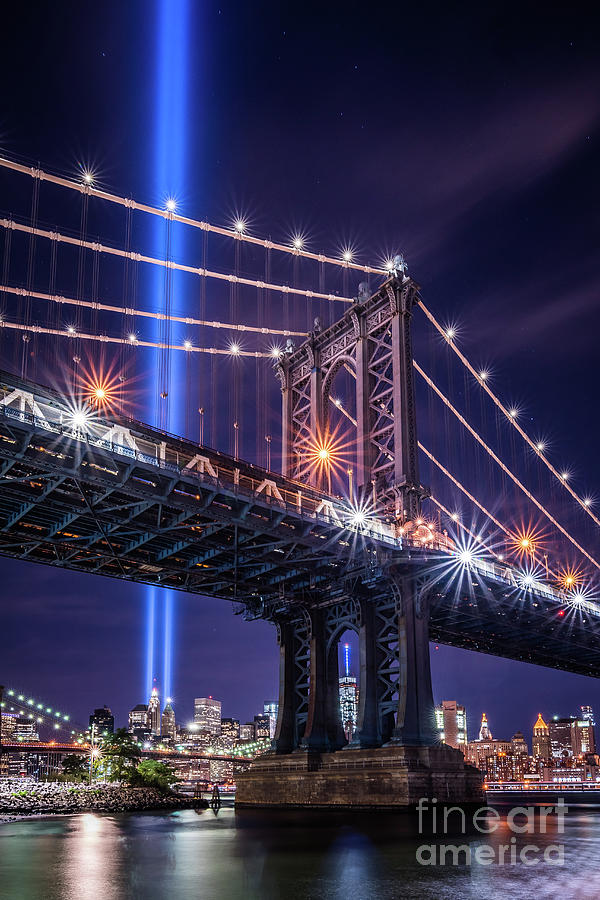 9/11 Memorial Photograph - Tribute In Light  by Imma Barrera