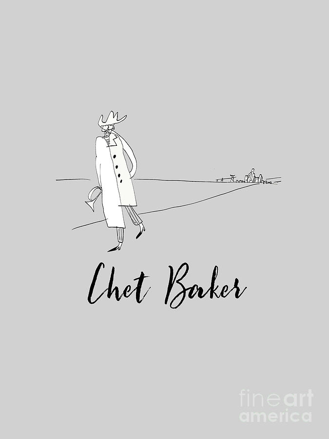 Tribute To Chet Baker Drawing