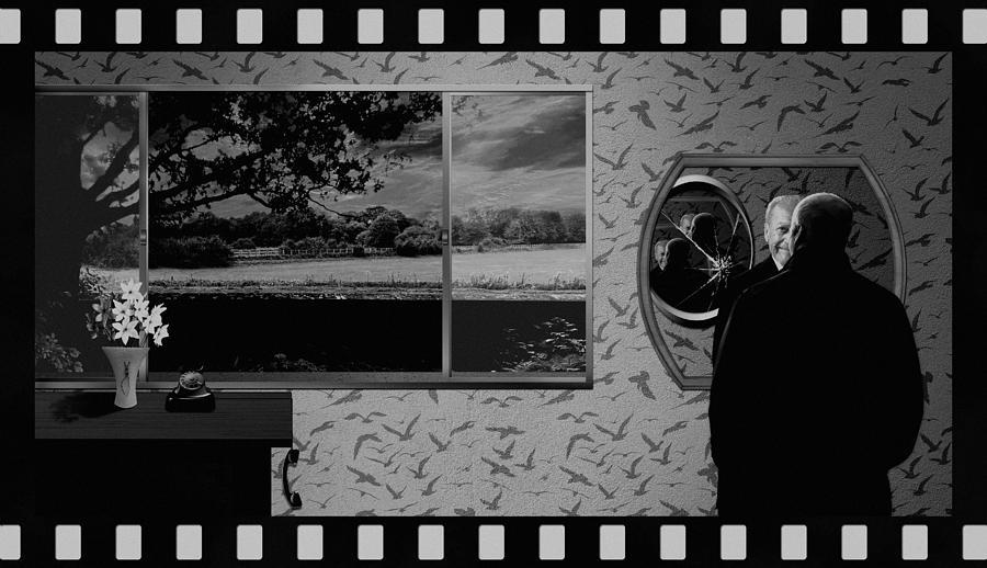 Tribute To Master Of Suspense - Bw Digital Art