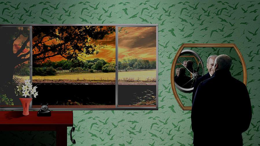 Tribute To Master Of Suspense - Color Digital Art