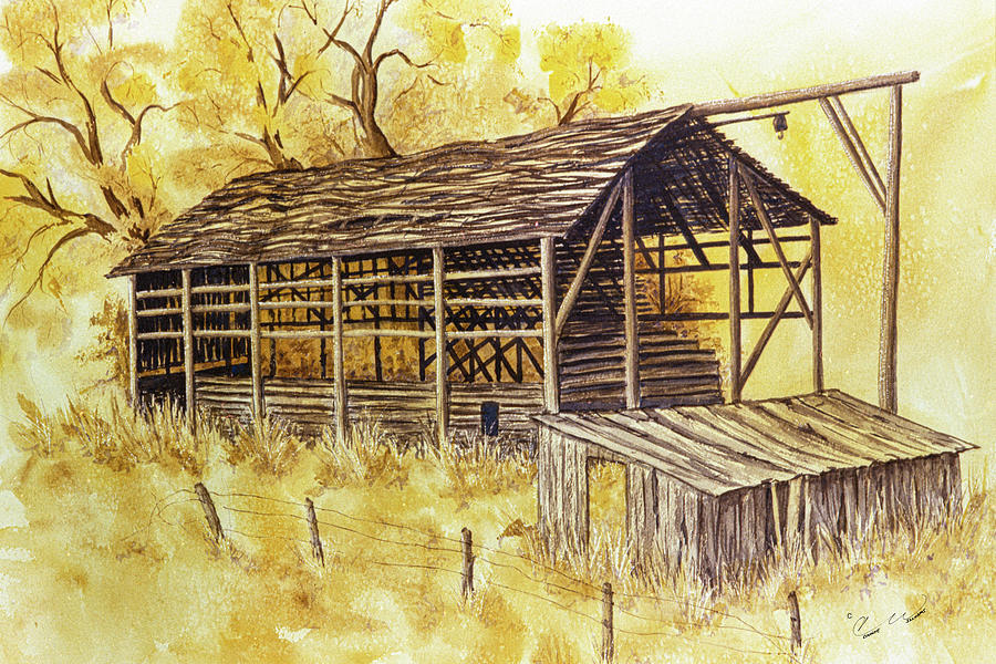 Trickle Bridge Barn by Connie Williams