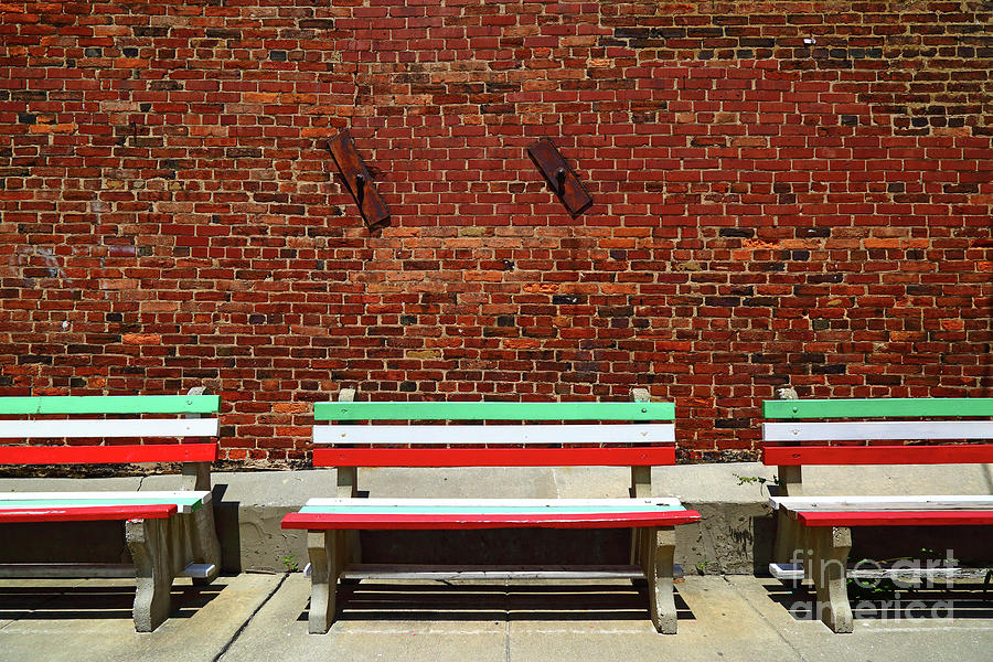 Tricolor Seats in Little Italy Baltimore by James Brunker