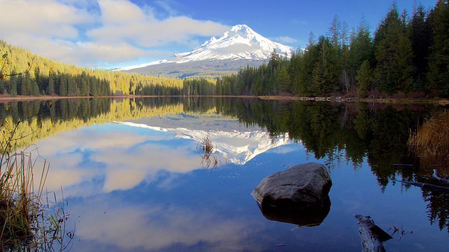 Trillium Lake November Morning by Todd Kreuter