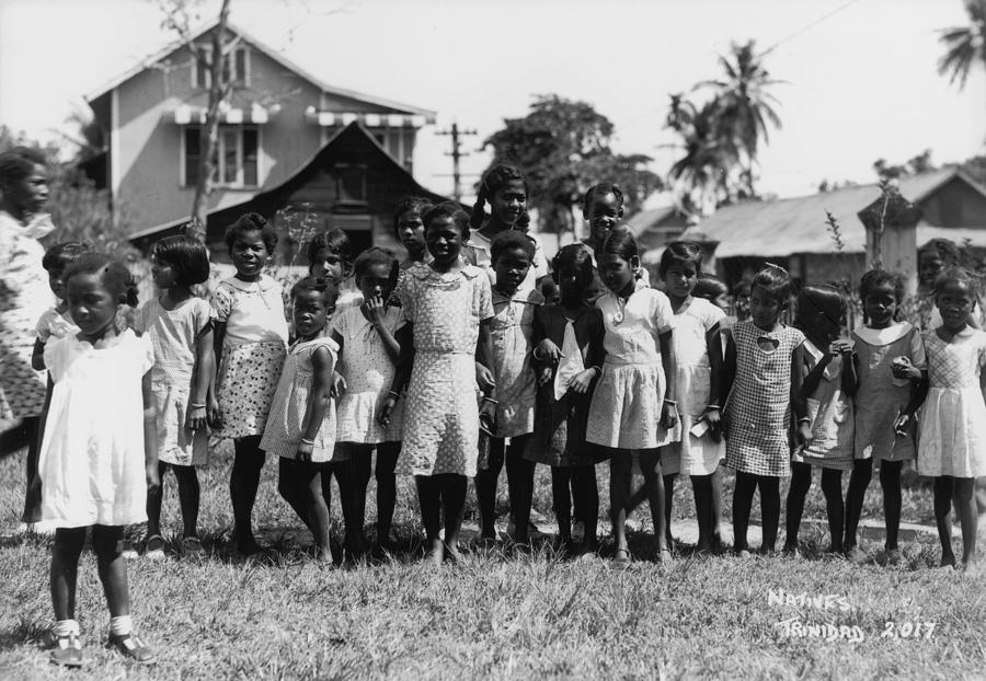 Education Photograph - Trinidad Schoolgirls by Fox Photos