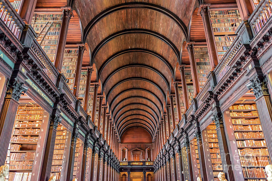 Library Photograph - Trinity College Library In Dublin by Delphimages Photo Creations