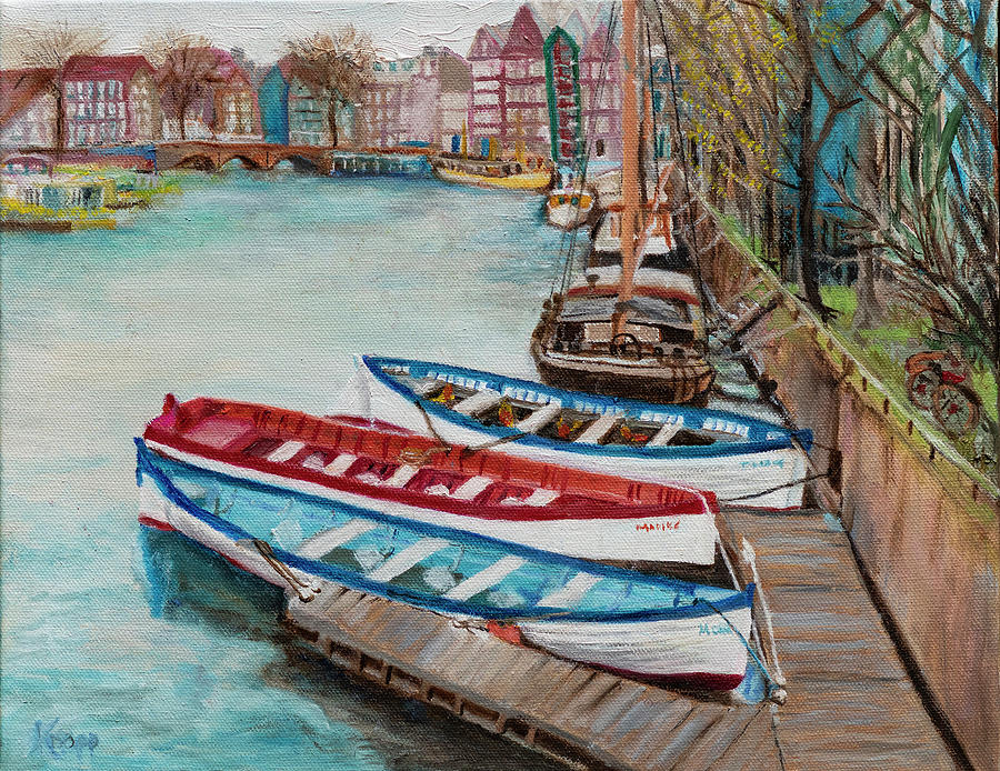 Trio of Boats by Kathy Knopp