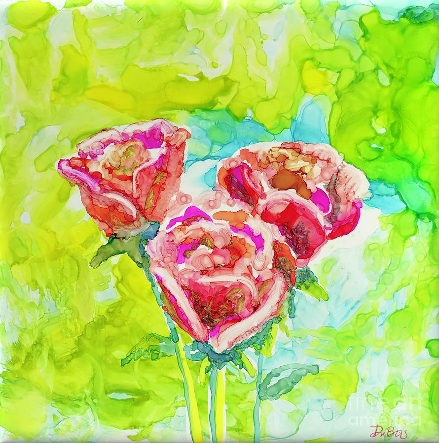 Trio of Roses by Lisa DuBois