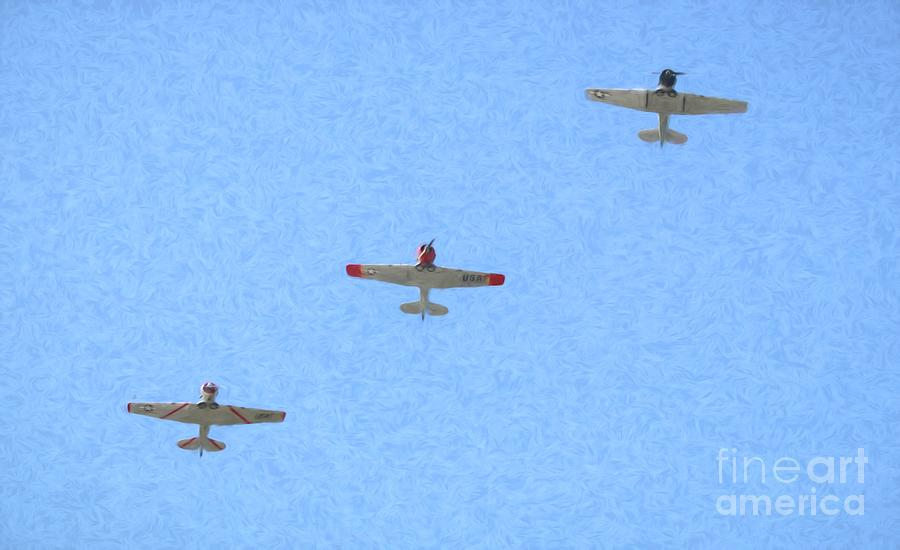 Trio Of World War II Planes by Karen Silvestri