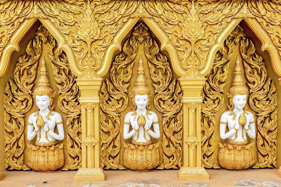 Triple Buddhas, Thailand by Ian Robert Knight