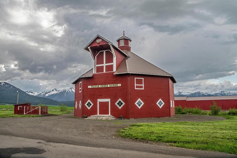 Triple Oak Ranch Octagonal Barn by Matthew Irvin