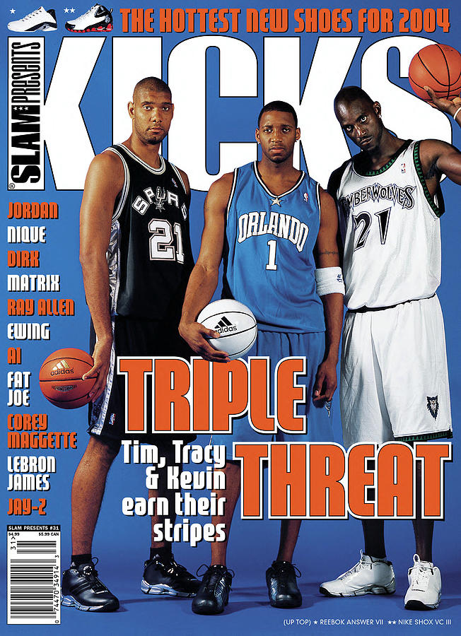 Triple Threat: Tim, Tracy & Kevin Earn Their Stripes SLAM Cover Photograph by Atiba Jefferson