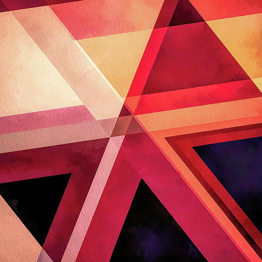 Triangle Digital Art - Triune by Jon Woodhams