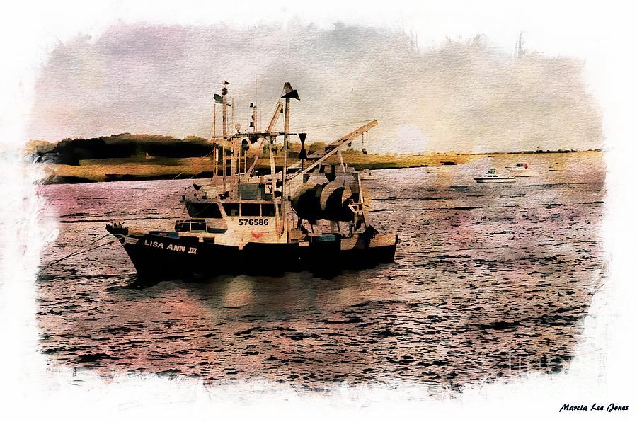 Trolling Boat by Marcia Lee Jones