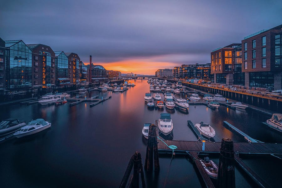 Trondheim and Sunset Light by Aziz Nasuti