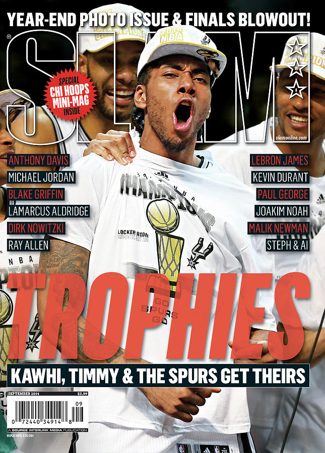 Trophies: Kawhi, Timmy & The Spurs Get Theirs SLAM Cover Photograph by Getty Images