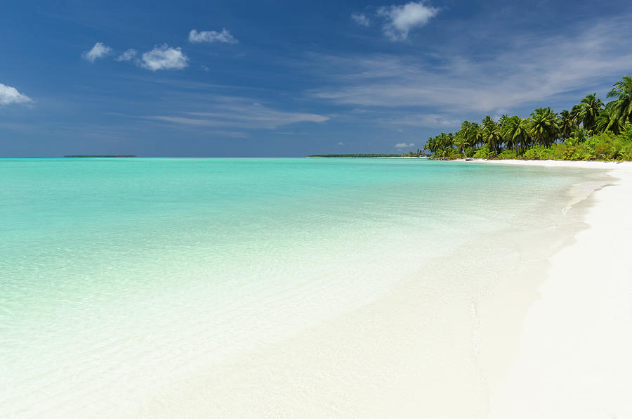 Tropical Atoll Lagoon And Beach Photograph by Pete Atkinson