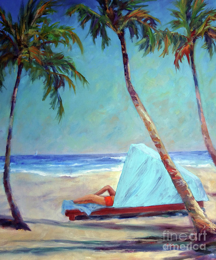 Tropical Beach Cabana by Carolyn Jarvis