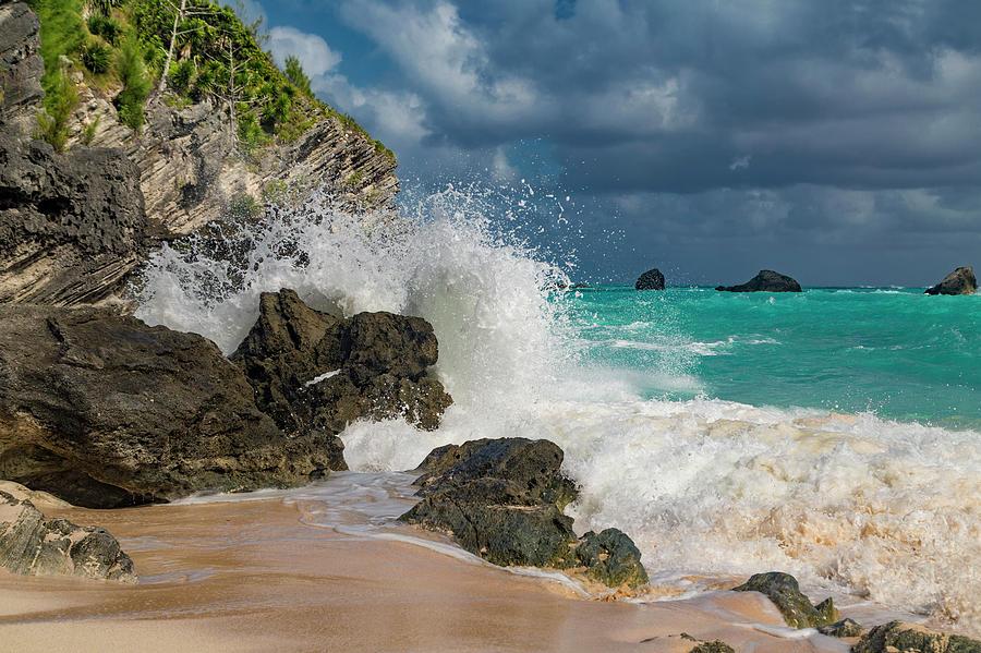 Tropical Photograph - Tropical Beach Splash by Betsy Knapp