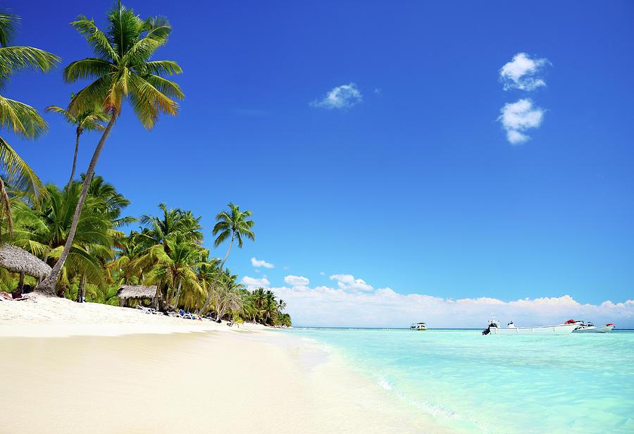 Tropical, Empty  Beach, Saona Islands Photograph by Gerisima