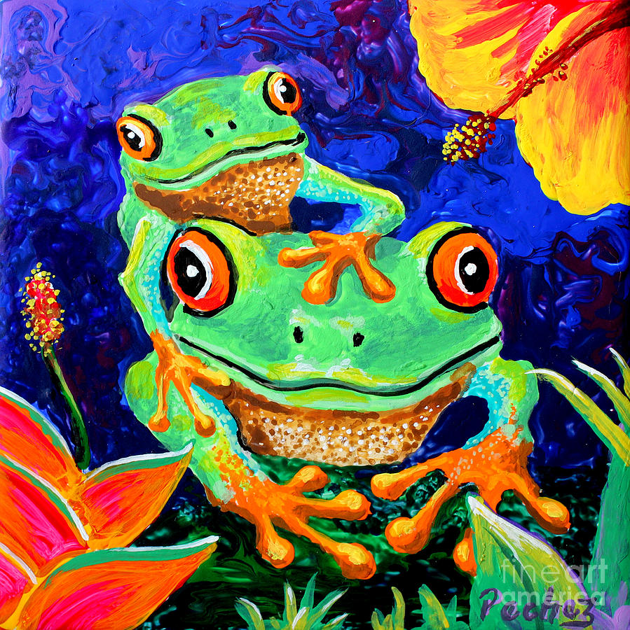 Tropical frogs by Pechez Sepehri