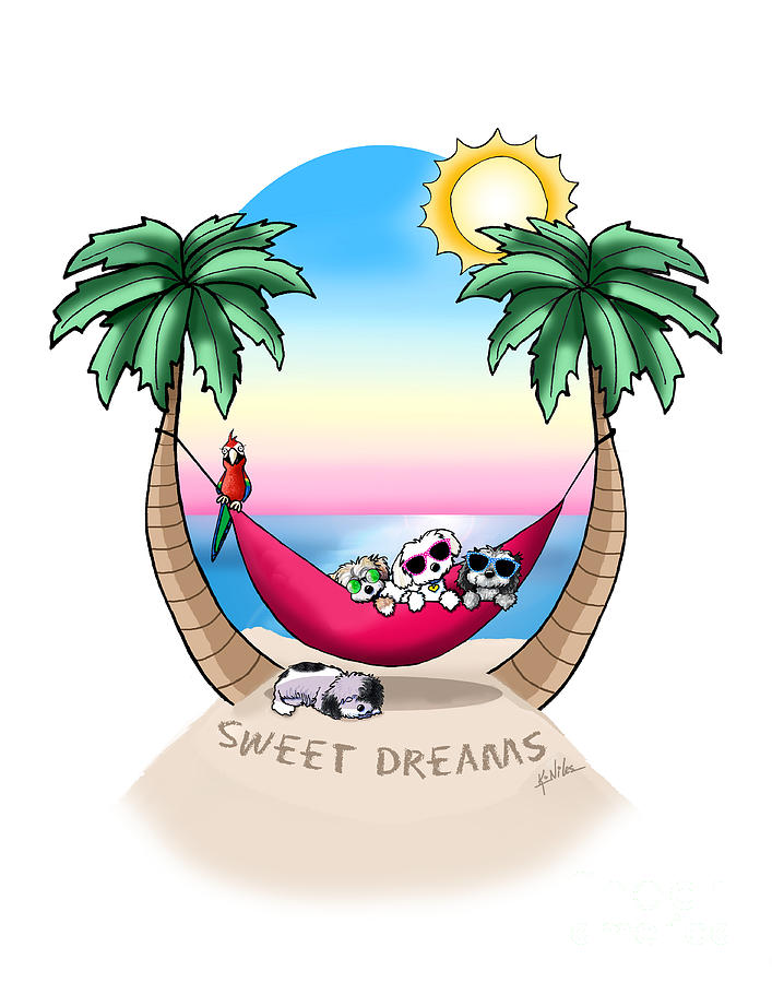 KiniArt Havanese Tropical Dreams by Kim Niles