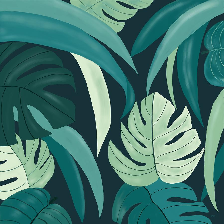 Tropical Leaves Painting