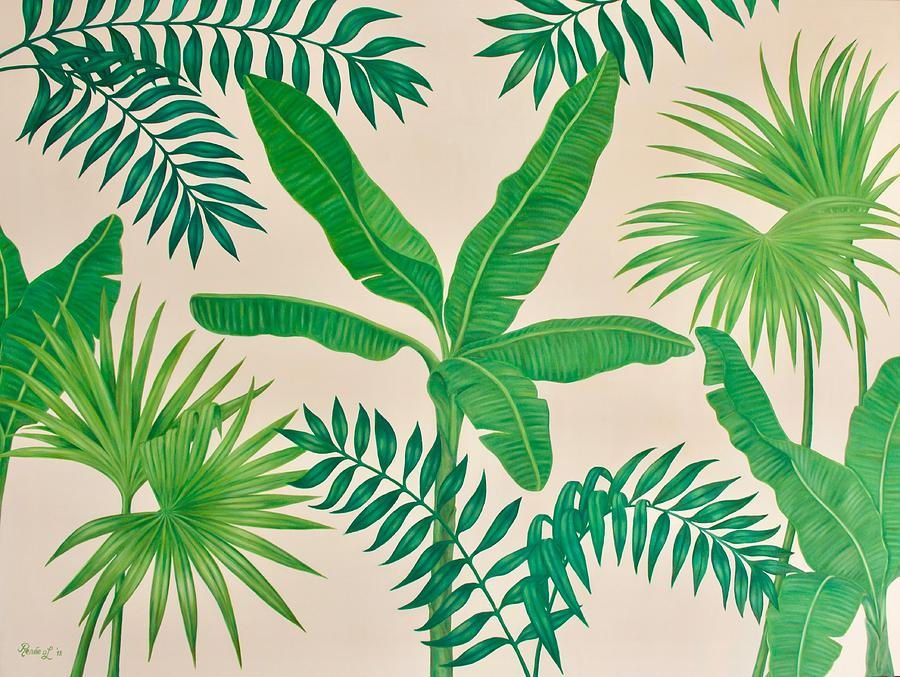 Tropical Leaves Painting By Renee Van Leeuwen Lovepik provides 61000+ tropical leaves photos in hd resolution that updates everyday, you can free download for both personal and commerical use. tropical leaves by renee van leeuwen