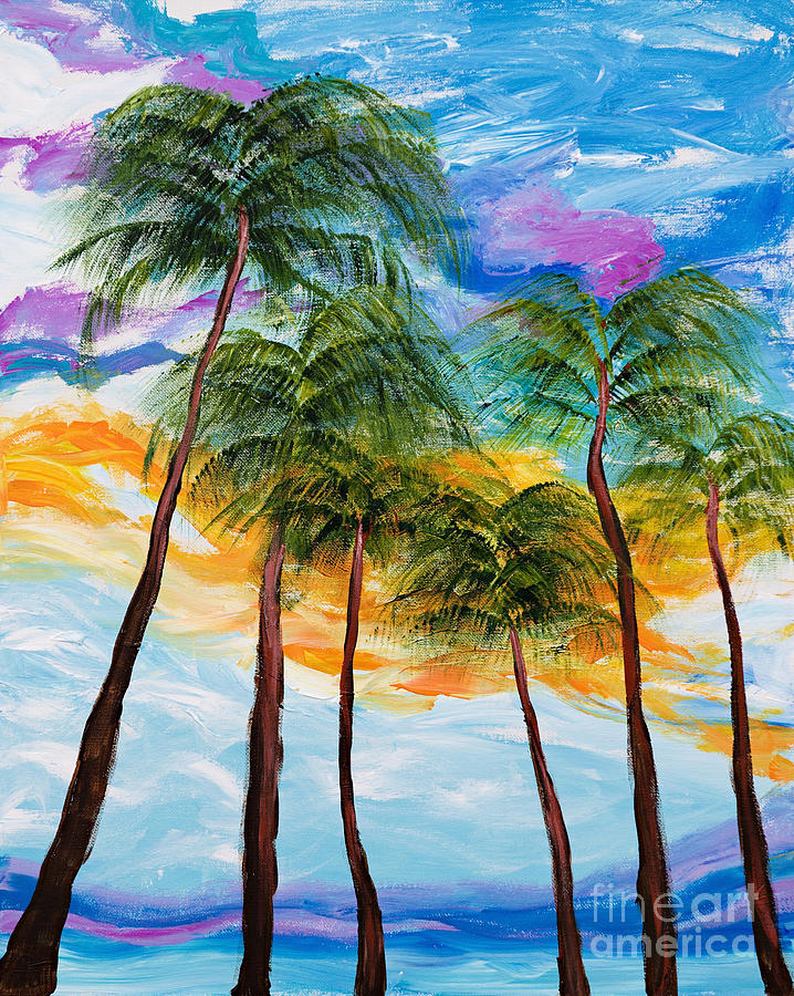 Tropical Palm Trees by Art by Danielle