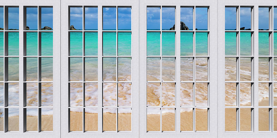 Bermuda Photograph - Tropical Paradise Beach Day Windows by Betsy Knapp