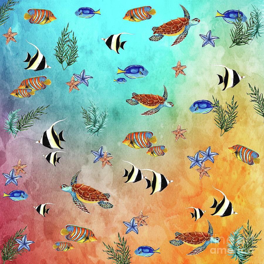 Tropical Seaworld by Kaye Menner by Kaye Menner
