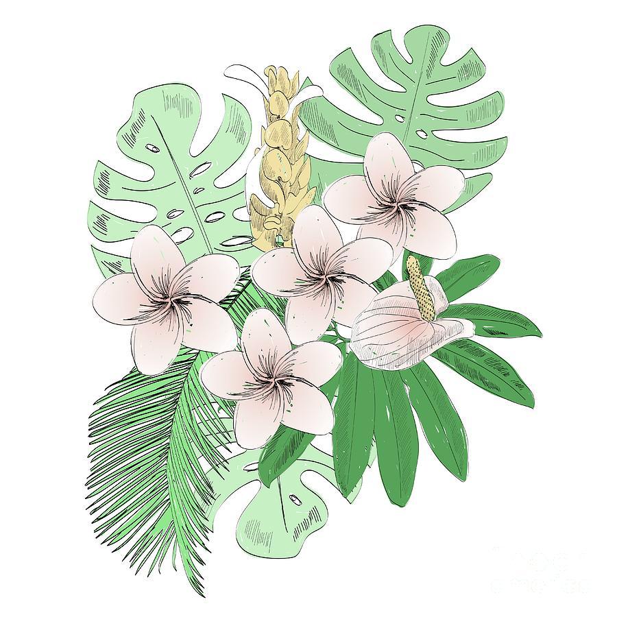 Tropical Vector Illustration Digital Art by Tapilipa