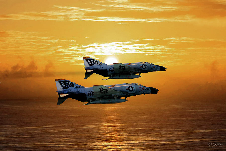 Aviation Digital Art - Trouble On The Horizon by Peter Chilelli