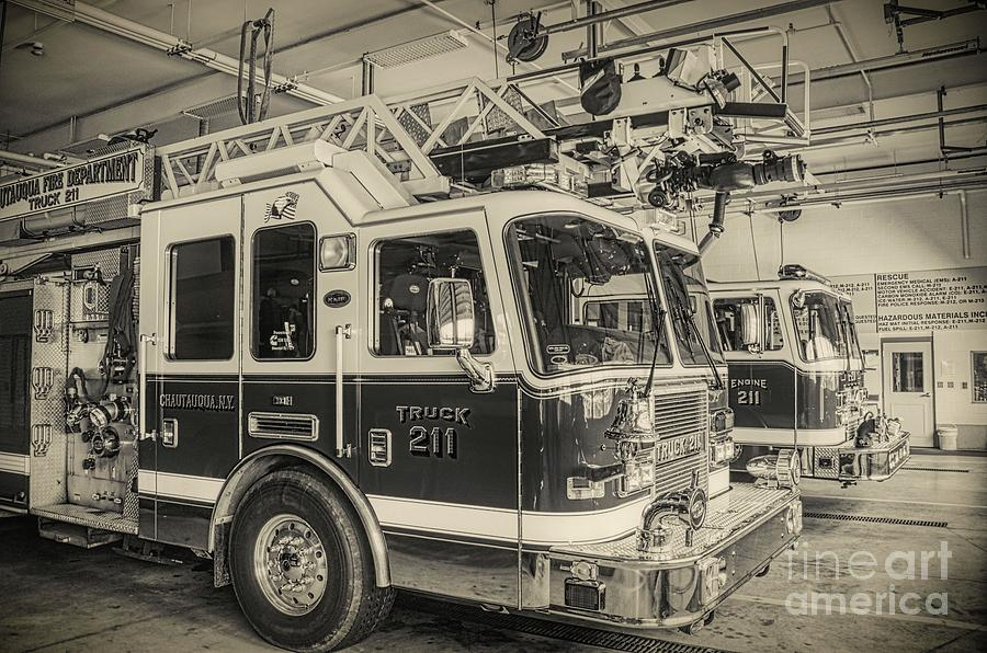 Truck and Engine 211 by Jim Lepard