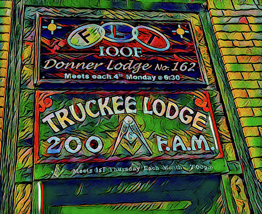 Truckee Masonic Lodge Green Theme by Joe Lach