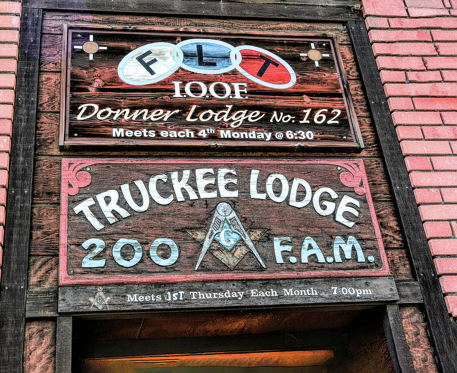 Truckee Masonic Lodge by Joe Lach