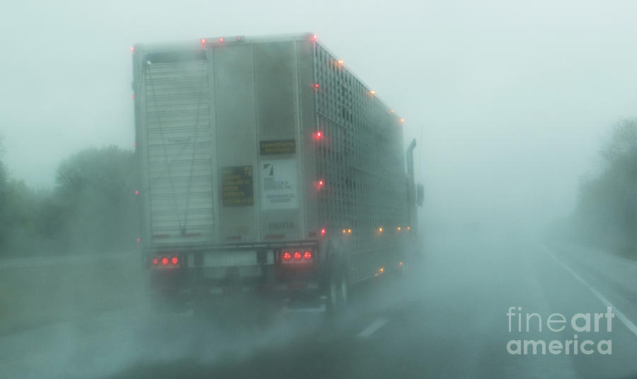 Trucking on I-40 by Garry McMichael