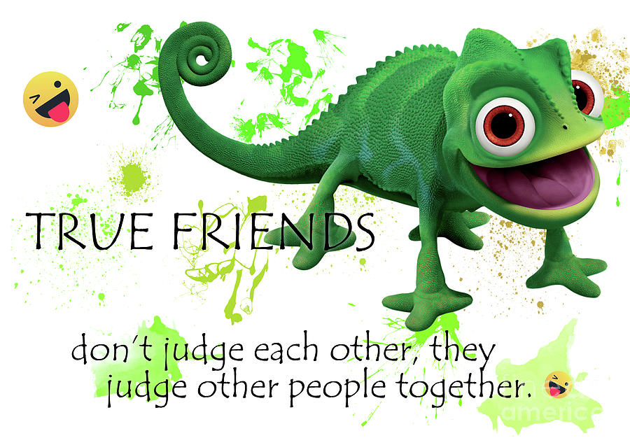 true friends funny cute friendship quotes digital art by prar