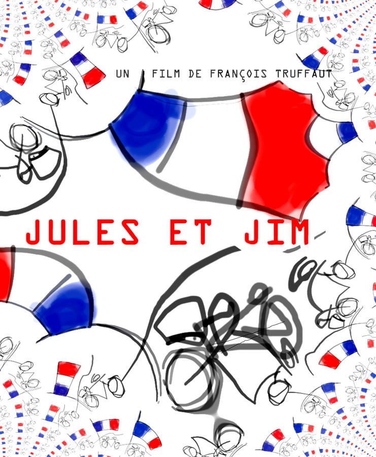 Truffaut Jules et Jim France  1962  by Paul Sutcliffe