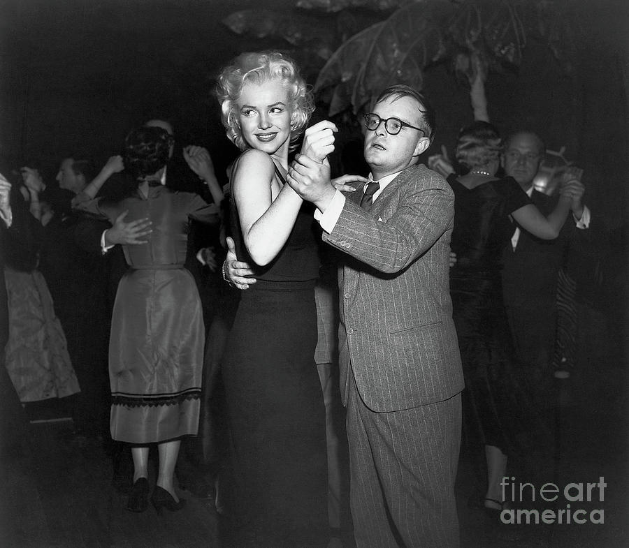 Truman Capote Dancing With Marilyn Photograph by Bettmann