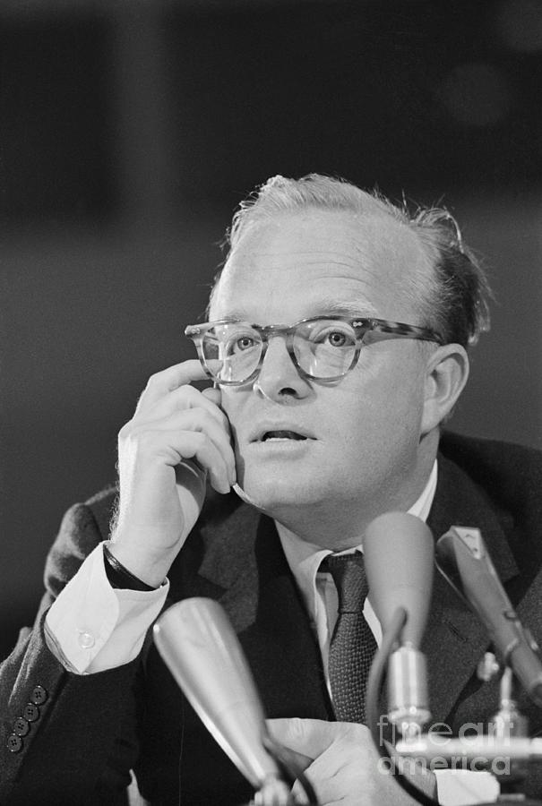 Truman Capote Testifying In Court Photograph by Bettmann