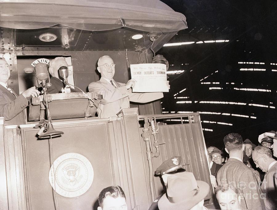 Truman Holding Erroneous Newspaper Photograph by Bettmann