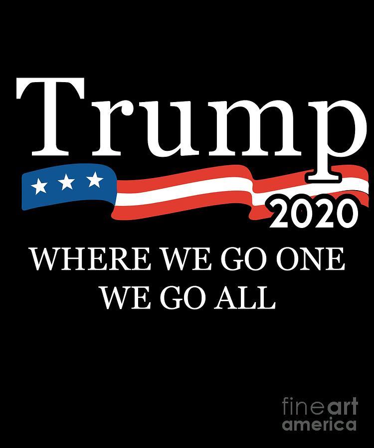 Trump 2020 Where We Go One We Go All Qanon by Flippin Sweet Gear