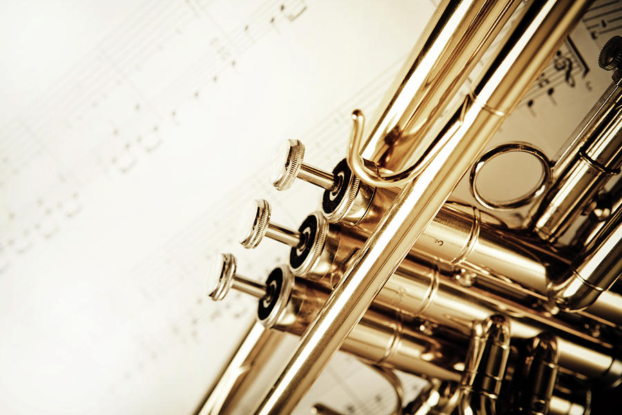 Trumpet And Notes Photograph by Aleksandarnakic
