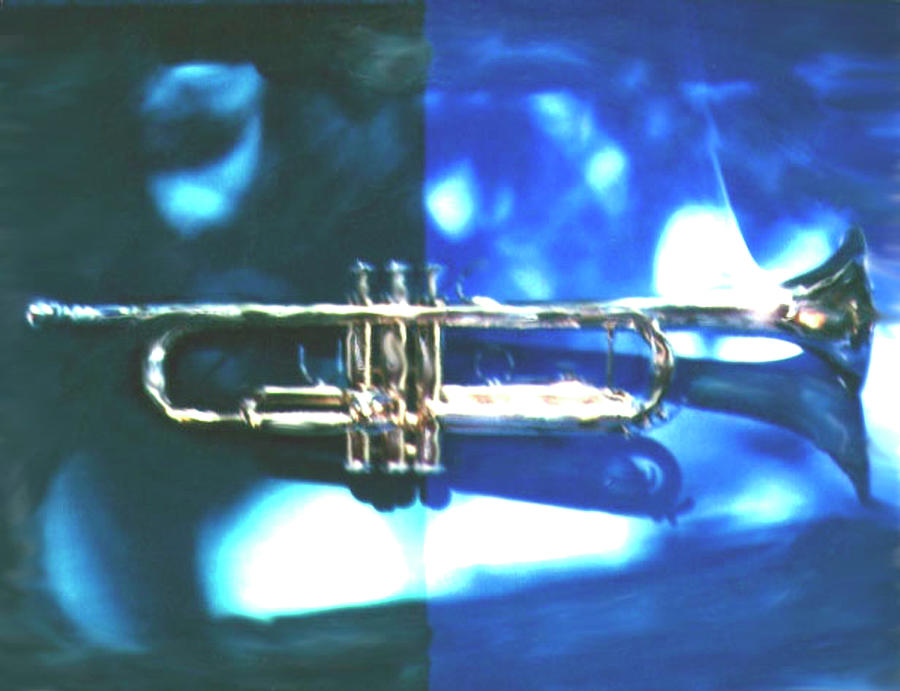 Trumpet, Blue Photograph by Claire Rydell