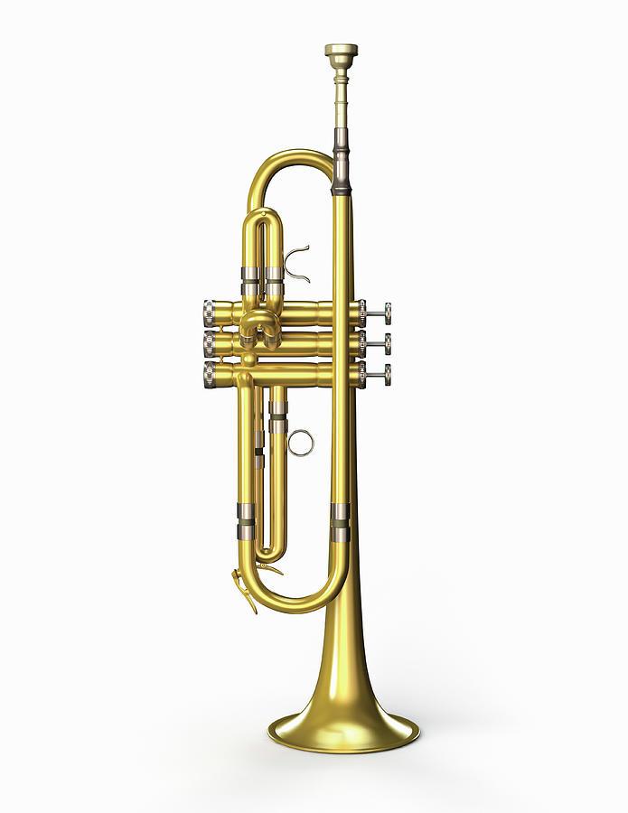 Trumpet Photograph by Burazin
